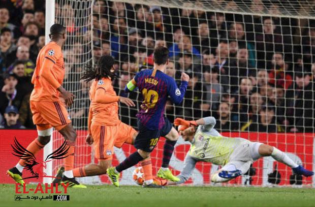 برشلونة يفيق ليون من حلم التأهل لربع نهائي دوري الأبطال بخماسية مذلة