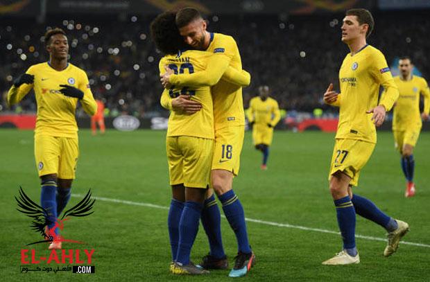 تشيلسي إلى ربع نهائي الدوري الأوربي بعد خماسية دينامو كييف وتأهل قاتل لفالنسيا