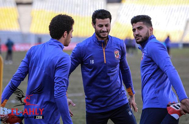 الانباء السارة تتوالى.. الشناوي يشارك في مران الأهلي قبل مواجهة الساورة
