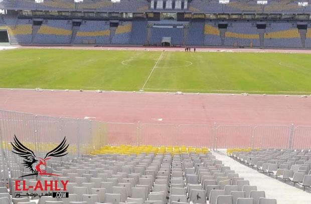 اتحاد الكرة ينشر صور تطوير ملعب برج العرب بعد زيارة عامر حسين قبل لقاء القمة