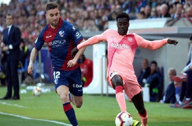 بدلاء برشلونة يفشلون في تخطي هويسكا في الليجا