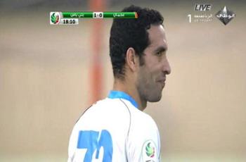 تريكة يفاجئ عشاقه ويقود بنى ياس فى مباراة مجنونة شهدت 6 اهداف