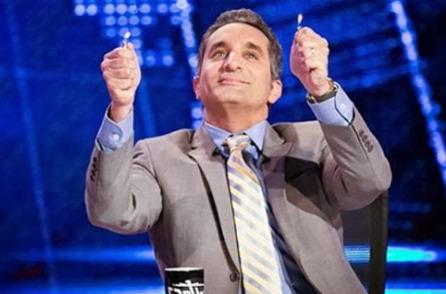 شاهد رد فعل باسم يوسف بعد فوز الاهلى على يانج افريكانز