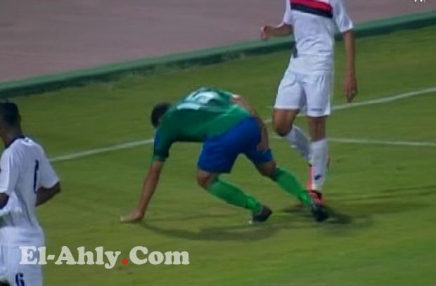 إصابة السيد حمدي في مواجهة الجيش