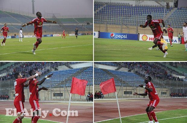 شاهد 36 لقطة للرقصة الأولى لبيتر ابيموبوي بعد هدفه الأول مع الأهلي
