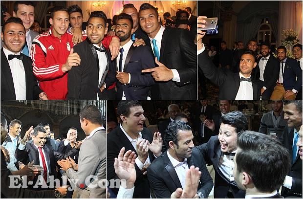 """نجوم الأهلي يشعلون حفل زفاف عمرو جمال """"سيلفي ورقص السيد حمدي"""""""