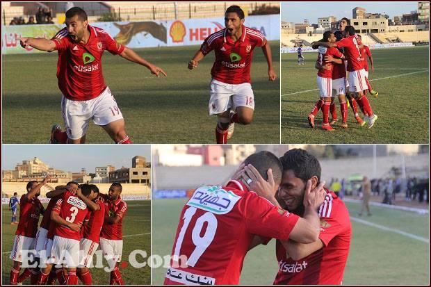 """فرحة هيستيرية لرزق وحمدي و""""جنون"""" عبد الله السعيد في لحظات ما بعد هدف الفوز"""