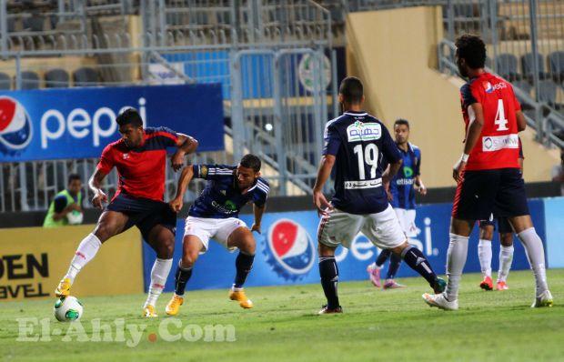 القائم ينقذ مرمي الأهلي في اول دقائق المباراة