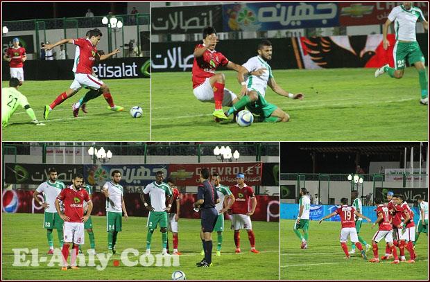 شاهد خطأ غريب من الحكم ومهارة عمرو جمال في مباراة الأهلي والمصري