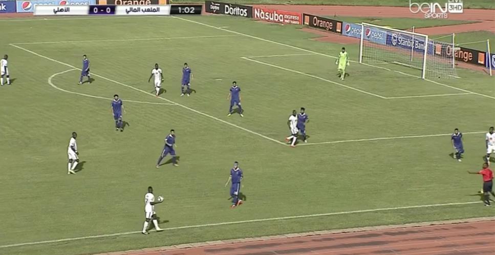 القائم ينقذ النادي الأهلي من هدف محقق للملعب المالي