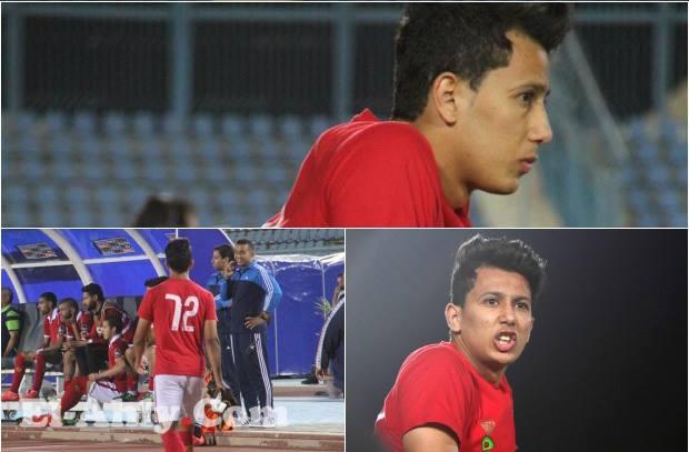 عدسة El-Ahly.com ترصد عمرو جمال منذ خلعه للقميص حتى وقوفه بجوار الدكة