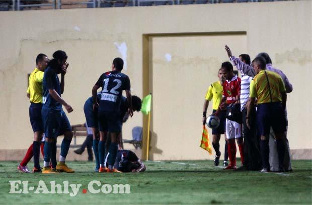 باسم علي يضيع فرصة هدف امام نادي انبي