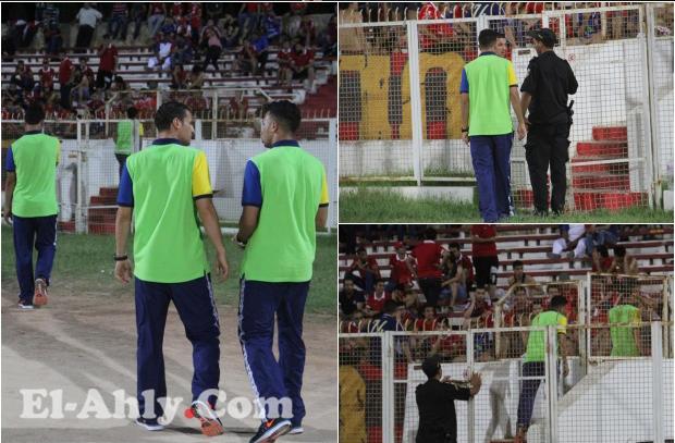 شاهد المستبعدون من مباراة النجم في حماية جمهور الأهلي بسوسة