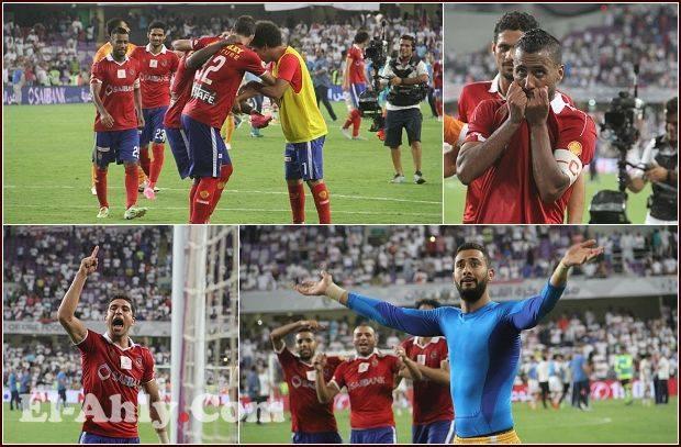 """شاهد رقصة """"إيفونا-حسين"""" وروح القائد الصغير و""""عاشور"""" الأهلاوي بعد التتويج بالسوبر"""