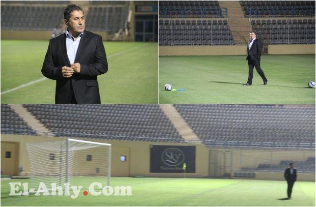 حضور مبكر من بيسيرو لأرض الملعب