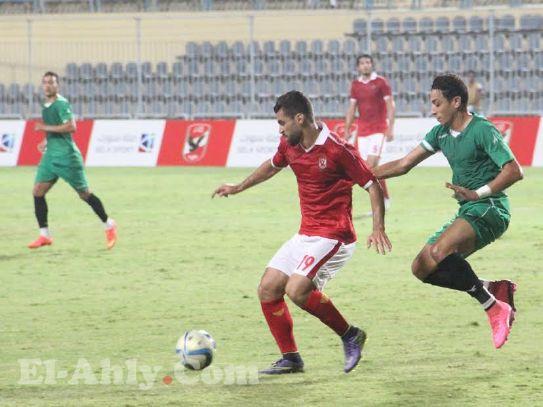 عبد الله السعيد يتقدم للنادي الأهلي بضربة جزاء