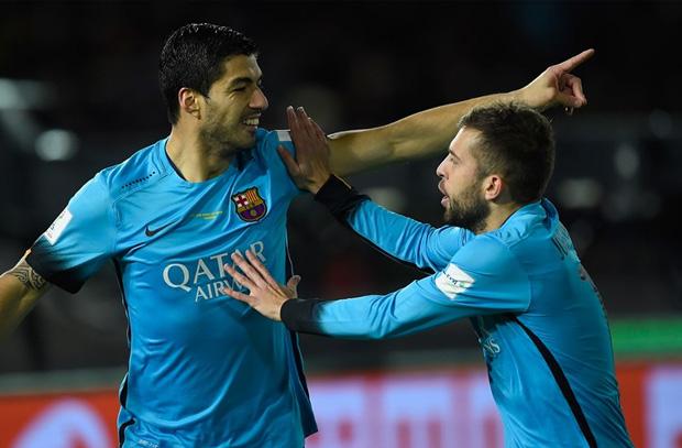 هاتريك سواريز يقود برشلونة لنهائي كأس العالم للأندية