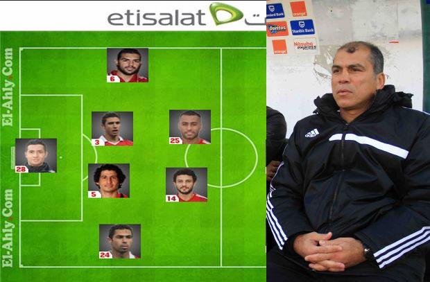 محمد يوسف يختار تشكيل الأهلى لمباراة اليوم