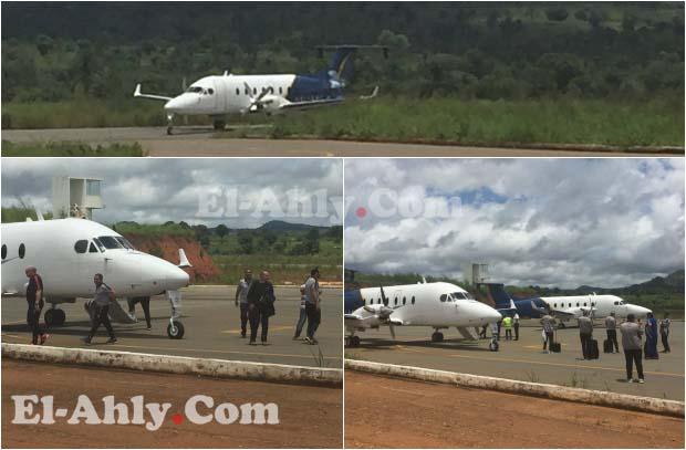شاهد وصول طائرات الأهلي لمدينة كالولو