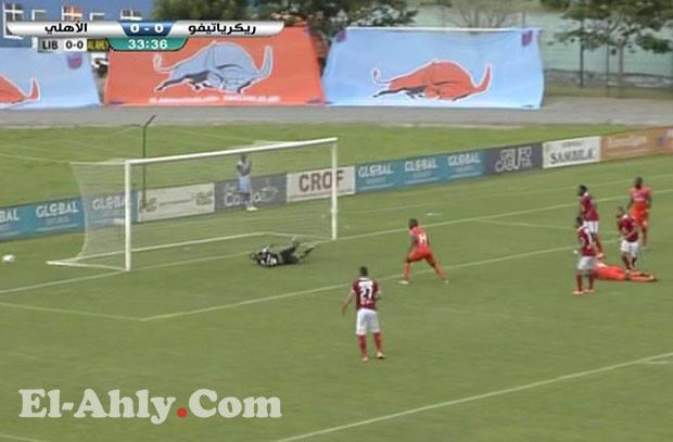 السعيد يهدر أسهل فرصة للأهلي في الشوط الأول من مباراة ليبولو