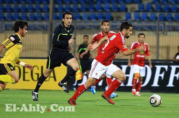 طارق سامي يقود مباراة الأهلي والمقاولون العرب
