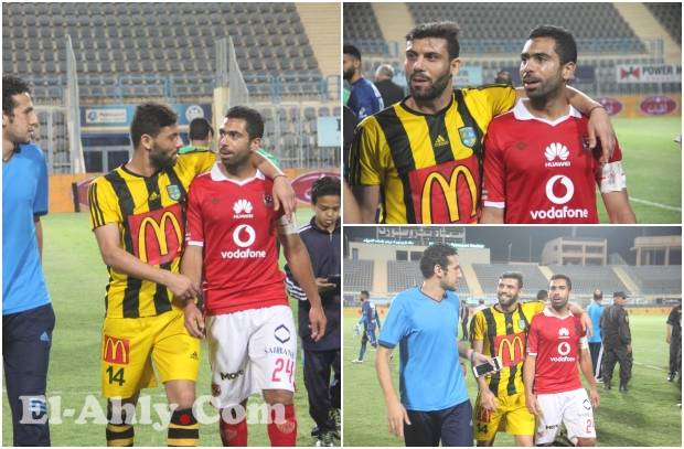 """الجماهير تهتف """"البت بيضة"""" وأحمد فتحي ييصطحب محمد شعبان خارج الملعب"""