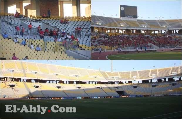 شاهد جماهير الأهلي تملأ مدرجات برج العرب استعداداً لبث الرعب أمام اسيك