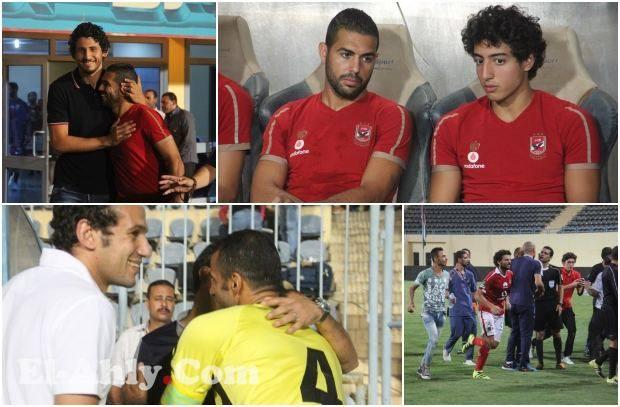 حديث متعب مع فضل وتحية رامي عادل وضحكات مع عبدالحفيظ في كواليس فوز الأهلي على المقاولون
