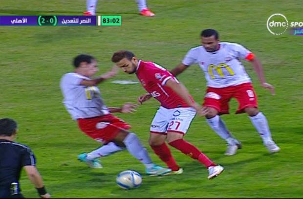 محمود عاشور يرفض احتساب ضربة جزاء صحيحة لميدو جابر