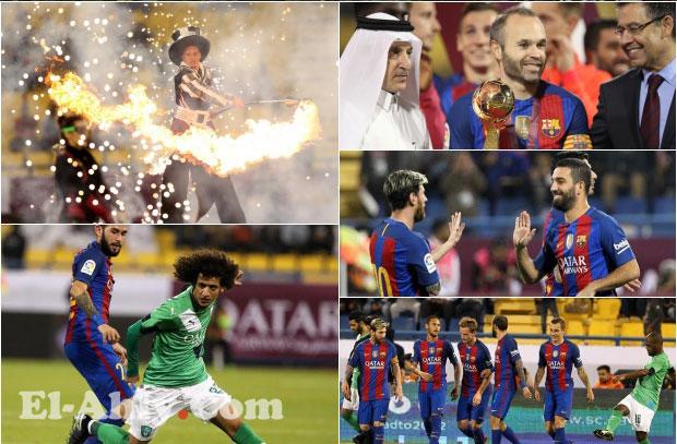 بعدسة El-Ahly.com ... شاهد مباراة برشلونة وأهلي جدة من أرض الملعب