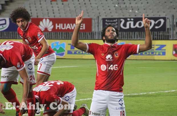 شاهد مروان محسن يسجل أول أهدافه بقميص الأهلي