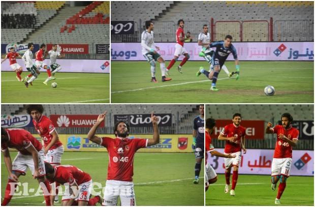 عدسة El-Ahly.com ترصد هدف مروان محسن الأول مع الأهلي