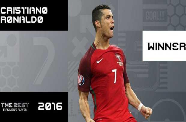 رونالدو يفوز بجائزة أفضل لاعب لعام 2016