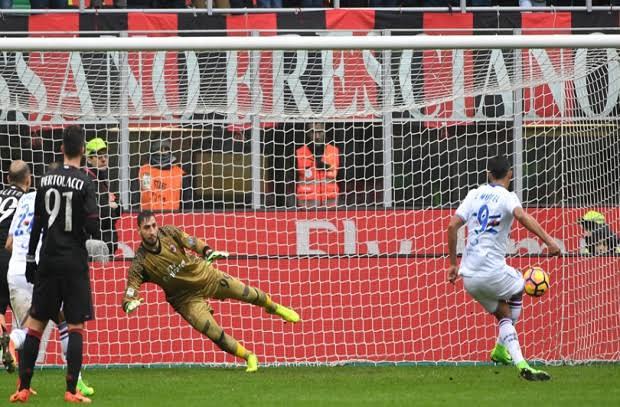 ميلان يسقط في فخ الهزيمة أمام سامبدوريا بالدوري الإيطالي