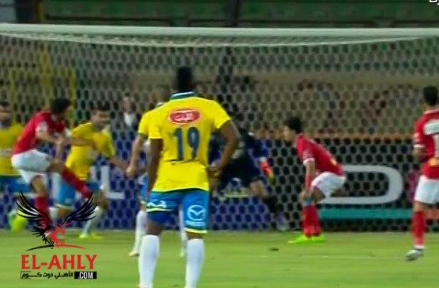 غالي يهدر فرصة هدف أمام مرمى الإسماعيلي