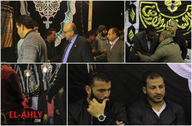 صور عزاء والد تريكه بحضور الخطيب ونجوم مصر