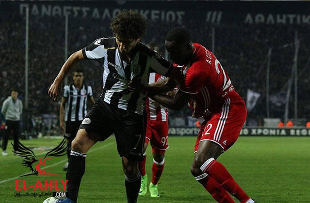باوك يهزم أوليمبياكوس بهدفين في الدوري .. ووردة يساهم في الهدف الأول