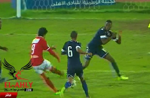 خطأ من حارس بيدفيست وتسديدة عمرو جمال تصطدم بالقائم