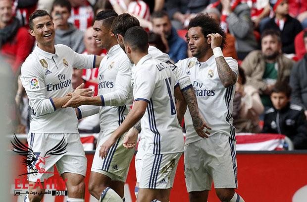 """كاسيميرو يخطف فوز هام لريال مدريد في """"الباسك"""" ويعزز صدارة الملكي"""