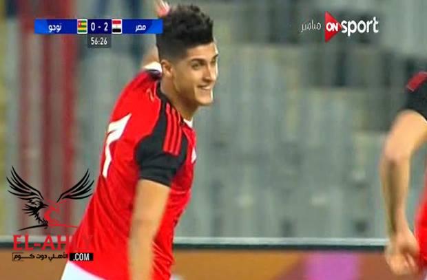 من ضربة حرة: الشيخ يسجل أول أهدافه مع منتخب مصر - الأهلي.كوم