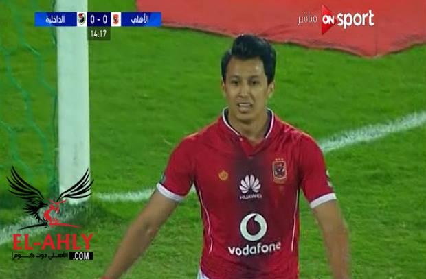 بعد سلسلة تمريرات رائعة .. عمرو جمال يهدر فرصة خطيرة للاهلي
