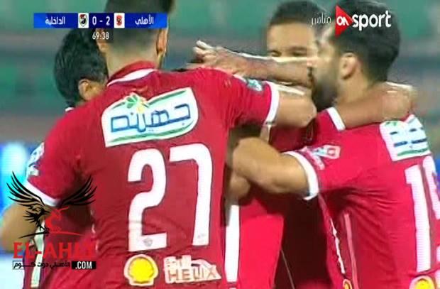 وليد سليمان يسجل هدف الأهلي الثاني من ركلة حرة رائعة