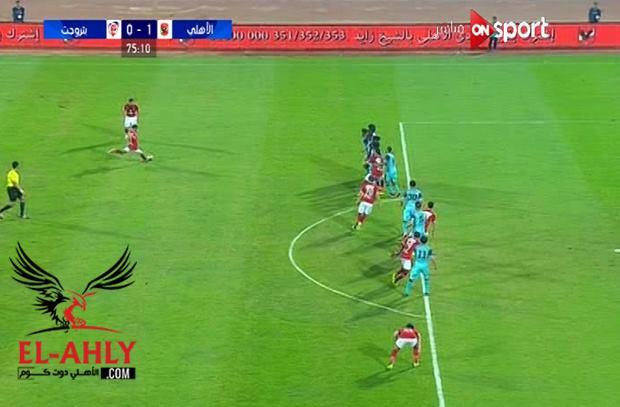العارضة تمنع وليد سليمان من هدف رائع من ضربة ثابتة