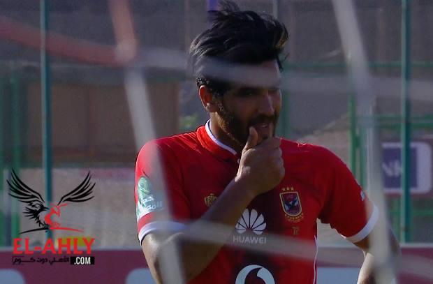 """شاهد صالح جمعة يفتتح أهداف الأهلي في مباراة تليفونات بني سويف """"الودية"""""""