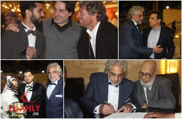 شاهد صور عقد قران نجل أحمد ناجي بحضور البدري وجهاز المنتخب