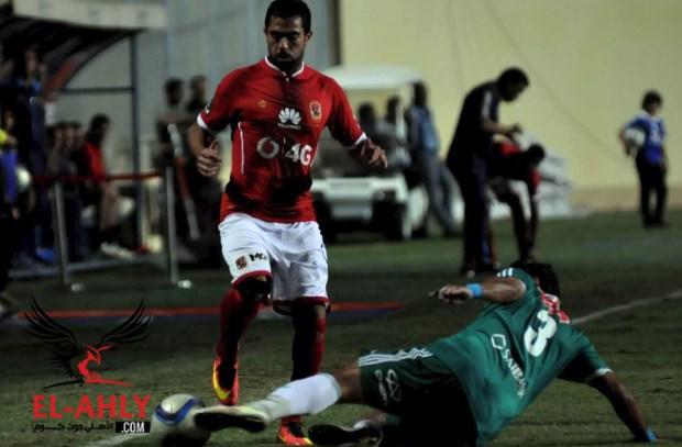 جلسة تصوير للاعبي الأهلي قبل مران الخميس
