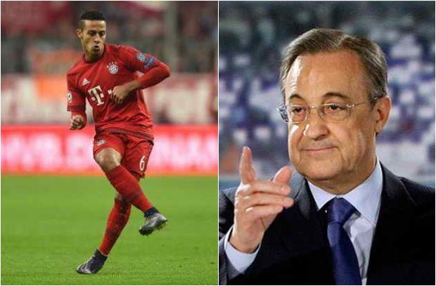 """بعد خسارة البايرن: حديث """"ودي"""" بين رئيس ريال مدريد وتياجو ألكانتارا"""