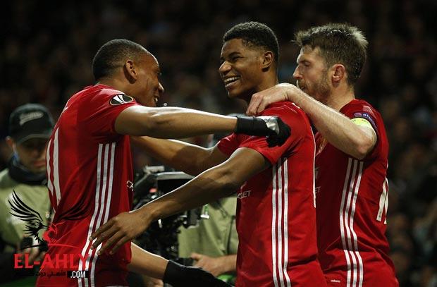 مانشستر ينتزع بطاقة التأهل لنصف نهائي الدوري الاوروبي من اندرلخت