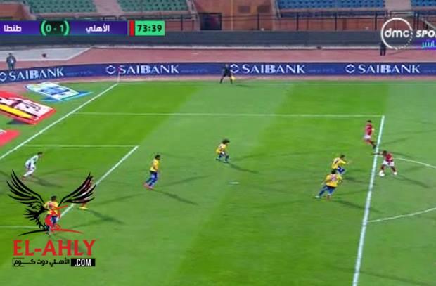 في اجمل لقطات المباراة .. حارس طنطا يمنع كوليبالي من هدف رائع في الزاوية القاتلة