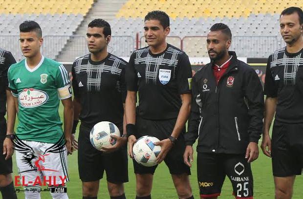 إبراهيم نور الدين يقود مباراة الأهلي والجيش